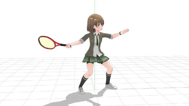 テニス、フォアハンド、地面を蹴ってパワーを出す