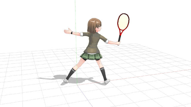 tennis backhand volley