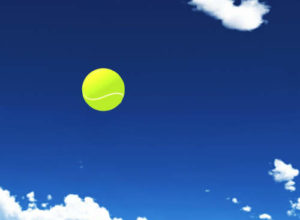 テニス トスしたボール