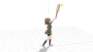 テニス スマッシュの打点