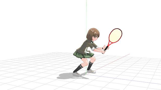テニス 異常に低い姿勢での構え