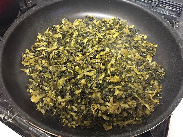 調理 高菜の油炒め2