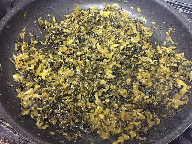 調理 高菜の油炒め3