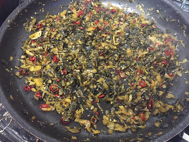 調理 高菜の油炒め5