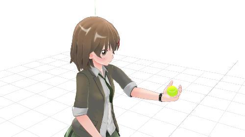 サーブ トス 手の平上向き ボールの握り方3