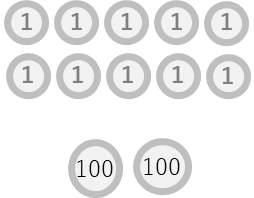 図 1円10枚 100円2枚
