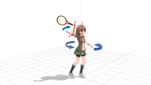 テニス サーブのスイング