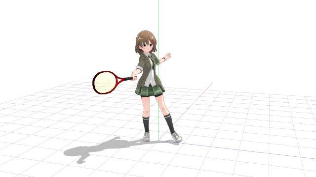 テニス ストローク 体の中心軸を後側の脚上に寄せる