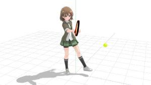 テニス 後ろ足体重で打つ
