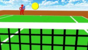 テニス 周辺視野で見る1