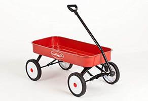 おもちゃの車輪付き台車
