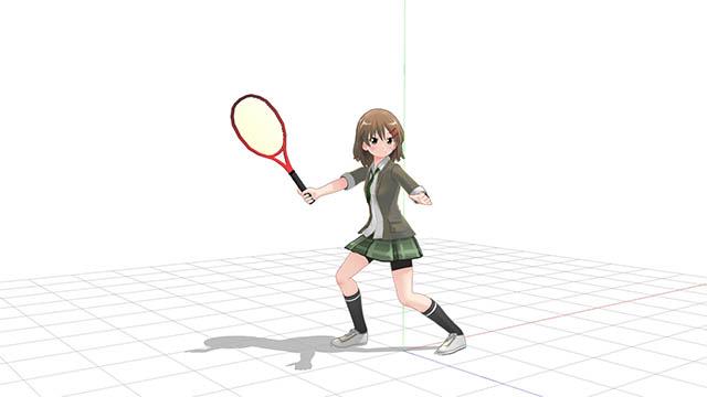 テニス 横向きのテイクバック2