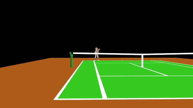 テニス コート 視界
