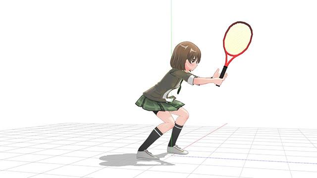 テニス ただ姿勢を落としただけの構え