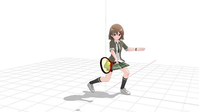 テニス フォアハンド 薄いグリップで打つインパクト例