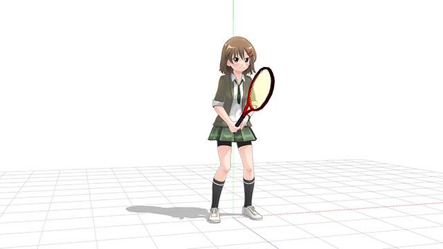 テニス 狭いスタンスでの構え