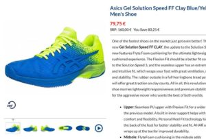 tenis shopping site