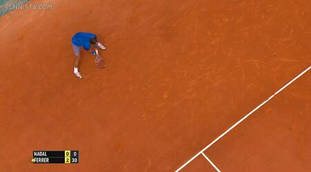 テニスのリターン位置