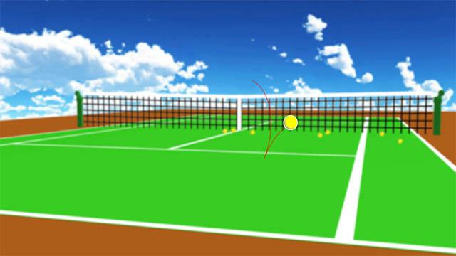 tennis court ball