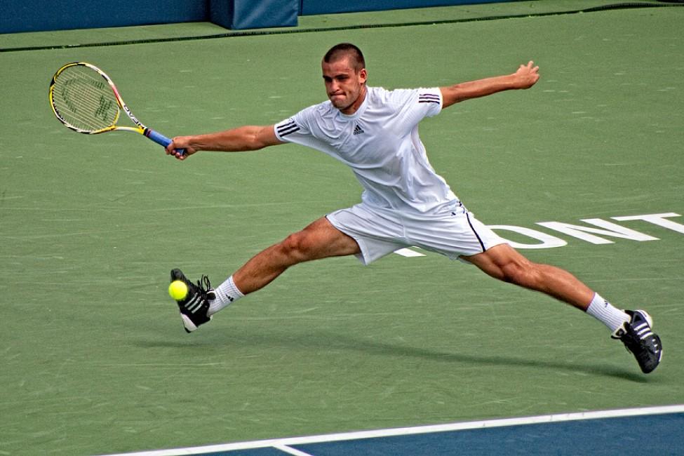 テニス フォアハンドスライス
