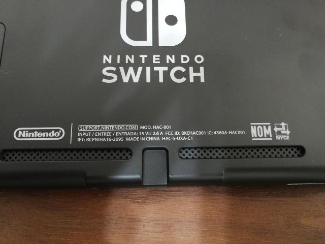 米国版Nintendo Switch 本体背面 表記