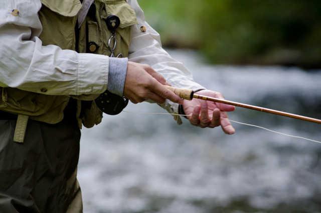 釣り竿の握り方