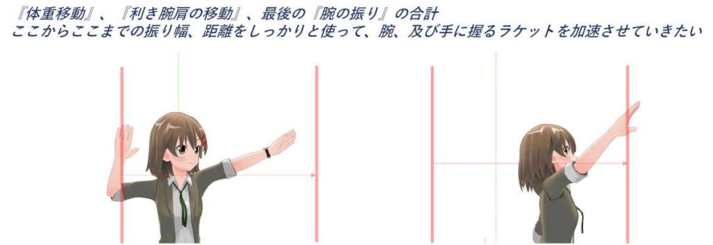 腕の振り幅