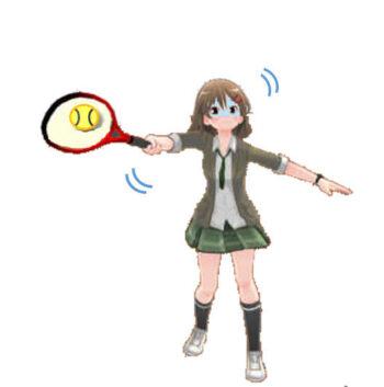 テニス 高い打点